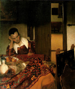 sono vermeer_-_girl_asleep