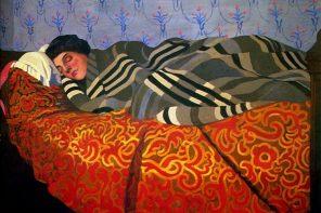 Mulher deitada a dormir