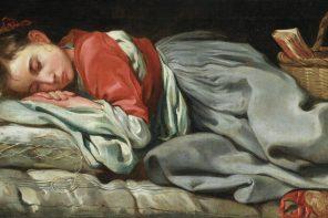 Jovem a dormir
