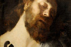 Cabeça de homem a dormir