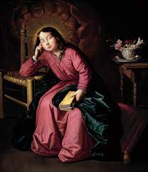 Jovem Virgem adormecida