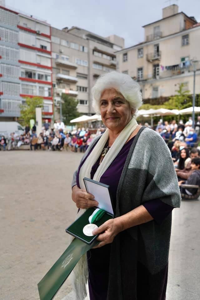 Teresa Paiva recebeu medalha de honra da Junta de Freguesia de Campolide